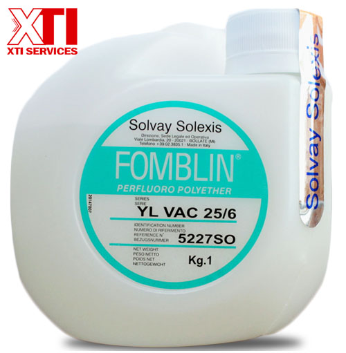 Fomblin Oil Manufactured by Solvay Solexis can be ordered at XTI Services